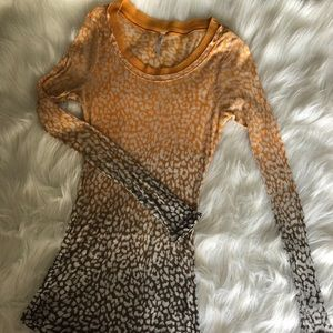 Rue 21 Animal Print Fitted Long Sleeve Shirt